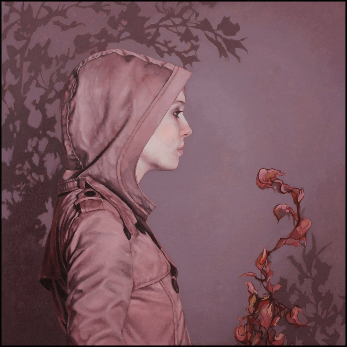 "Hooded Girl 2, 24""x24"" SOLD"